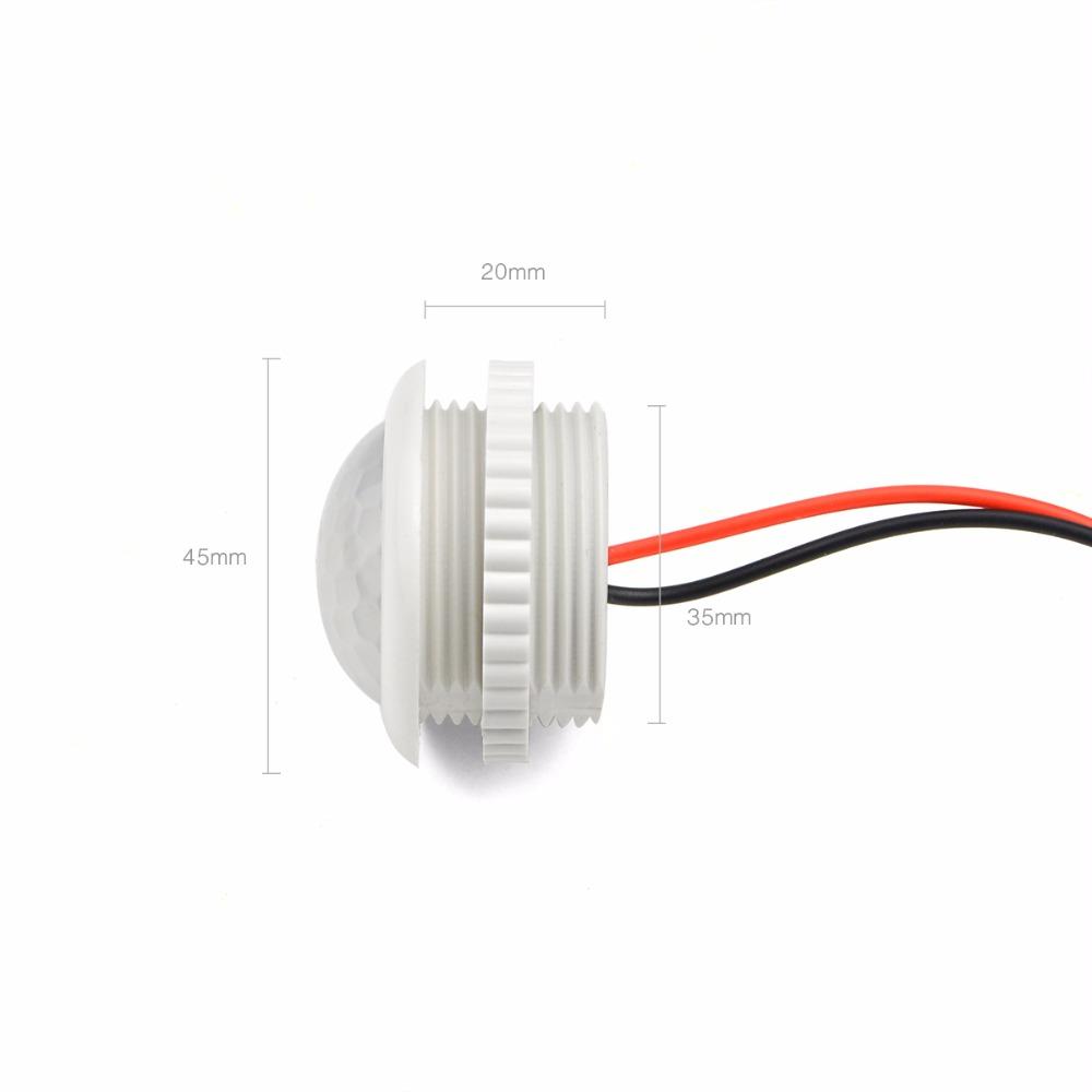 PIR Motion Sensor Switch IR Infrared Sensor Light Control Detector White