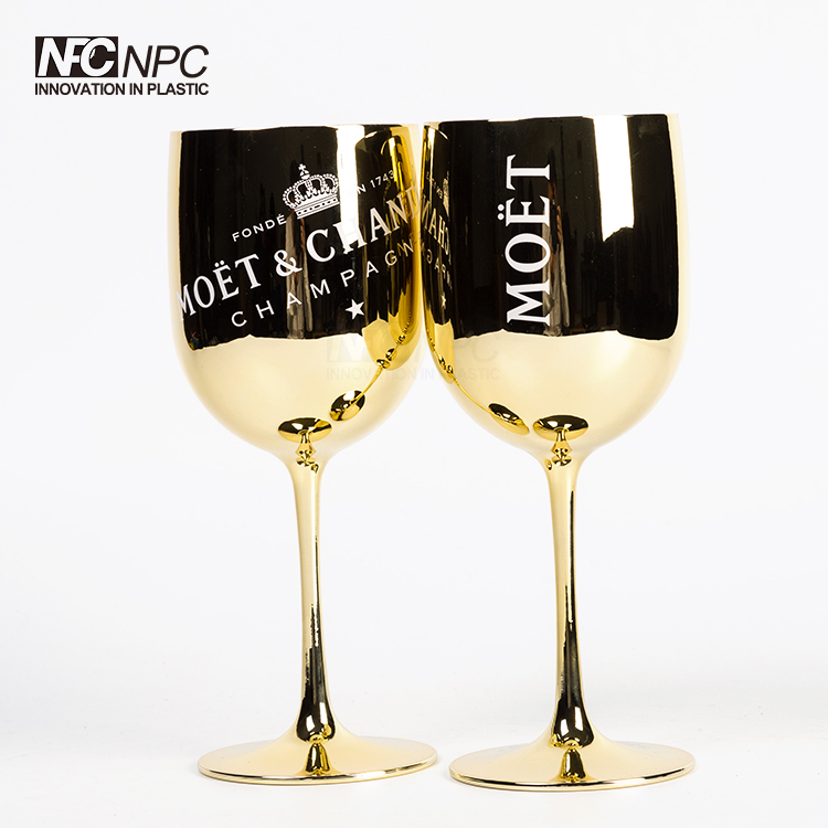 Moet &amp; Chandon Gold <strong>Glass</strong> plastic champagne <strong>glasses</strong>