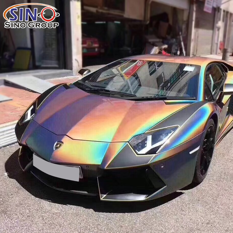 CARLIKE Super Arcobaleno Colorato Chrome Scintillio Chameleon Vinile Car Wrap