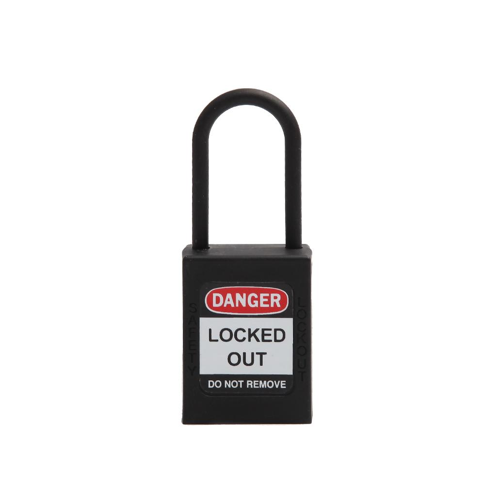 Keyed Alike Nylon Long Shackle Lockout Tagout Padlocks 202L Lock shackle diamete