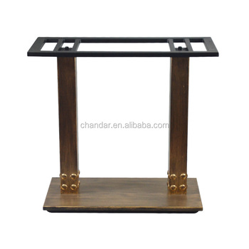 Charmant CH RB025 Table Base, Furniture Leg, Wrought Iron Rectangular Table Bases