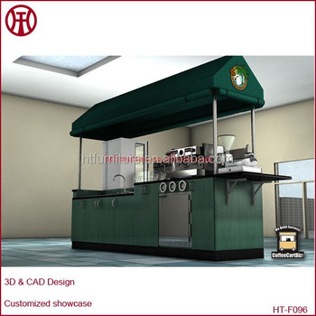 Modern And Fashion Commercial Mobile Coffee Cart