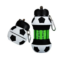 BPA FREI Reise Outdoor Fußball Form Sport <span class=keywords><strong>Flasche</strong></span> Faltbare <span class=keywords><strong>Silikon</strong></span> <span class=keywords><strong>Wasser</strong></span> <span class=keywords><strong>Flasche</strong></span>