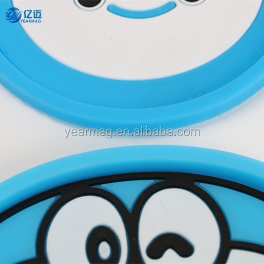 Cheap 3D custom plastic silicone rubber cup coasters for drinks