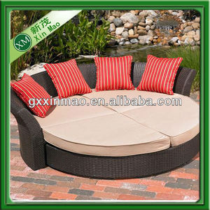 cheap rattan round sectional sofa bed&chair