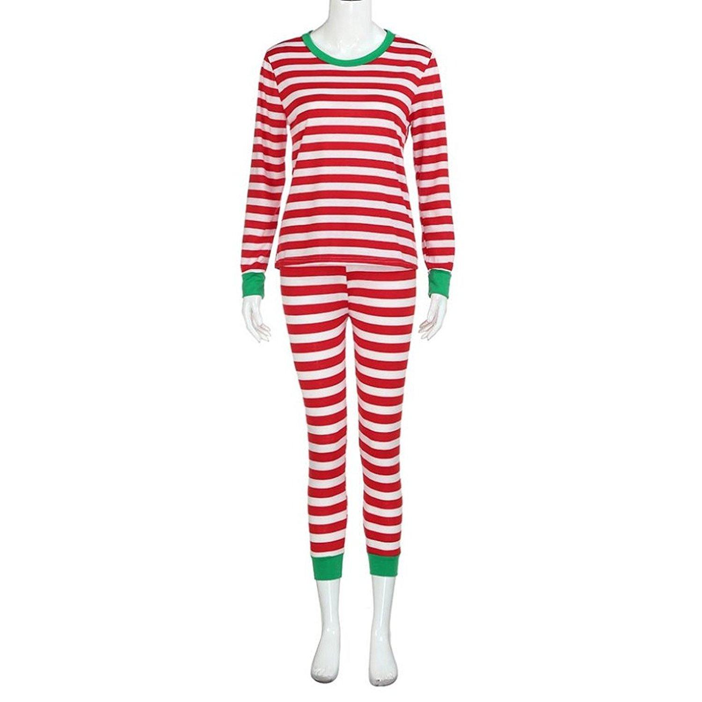 3533e06af9 Get Quotations · Appoi Women Family Matching Christmas Pajamas Set Christmas  Pajamas Striped Pants+Blouse