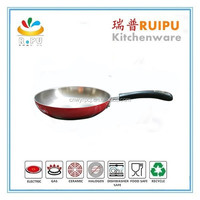 OEM Factory Supply! Multi-color Non-stick Coating stainless steel indian pot pan set steak cooking pan houseware