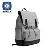 Fashion New Design Cotton Bag Lightweight Laptop Backpack Gray Bag Water-resistant Leather Handle And Zipper Pulls Bag