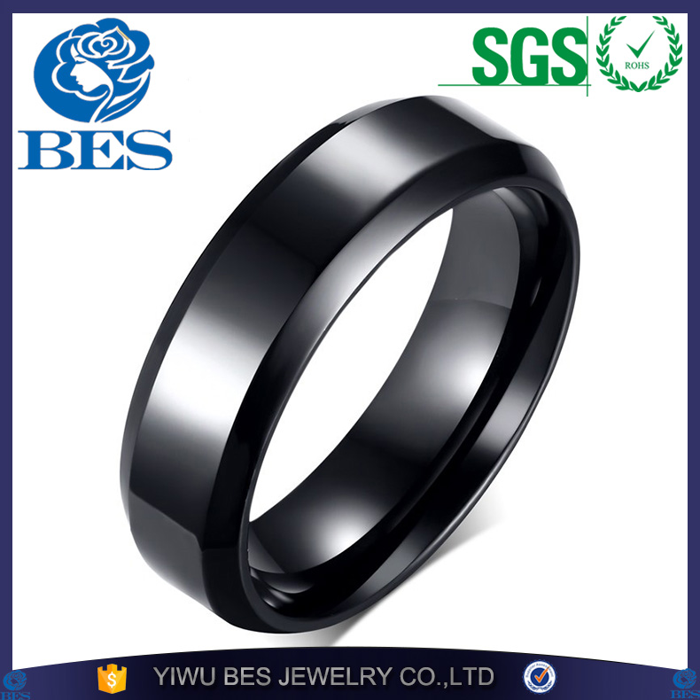 Gold Silver Black Color Stainless Steel Men's Fashion Ring Cool Man Simple High Polished Wedding Ring