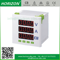 Multifunction RS485 Communication Digital Meter,Measure V,A,Hz,KW,W Power Factor Meter 3 phase 4 wire kwh meter