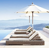 Hotel furniture patio outdoor pool bed chaise lounge