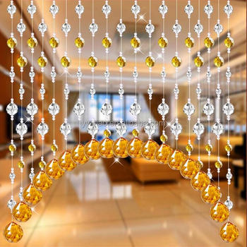 1 Meters Shine Acryl Crystal Bead Opknoping Strand met Hanger Manzanita Bomen Party Wedding Decor Levert Decoraties