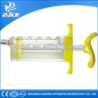 Hot sale trustworthy animal cure veterinary Plastic steel Syringe