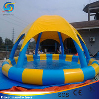 Inflatable pool with tent cover, swimming inflatable pool, pvc inflatable pool