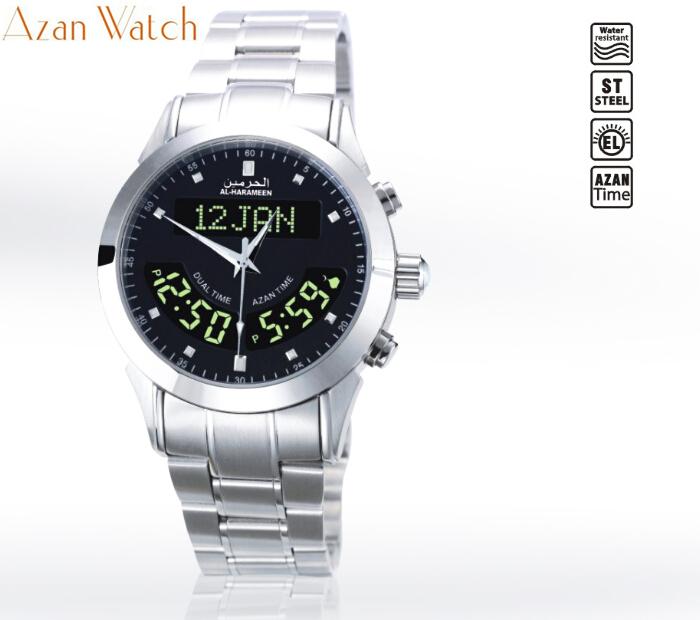 Watches Prayer Clock For Muslim With Qibla Compass 6208 Alfajr Watch Ws-06 Athan Clock With Prayer Alarm & Hijri & Azan Time Digital Watches