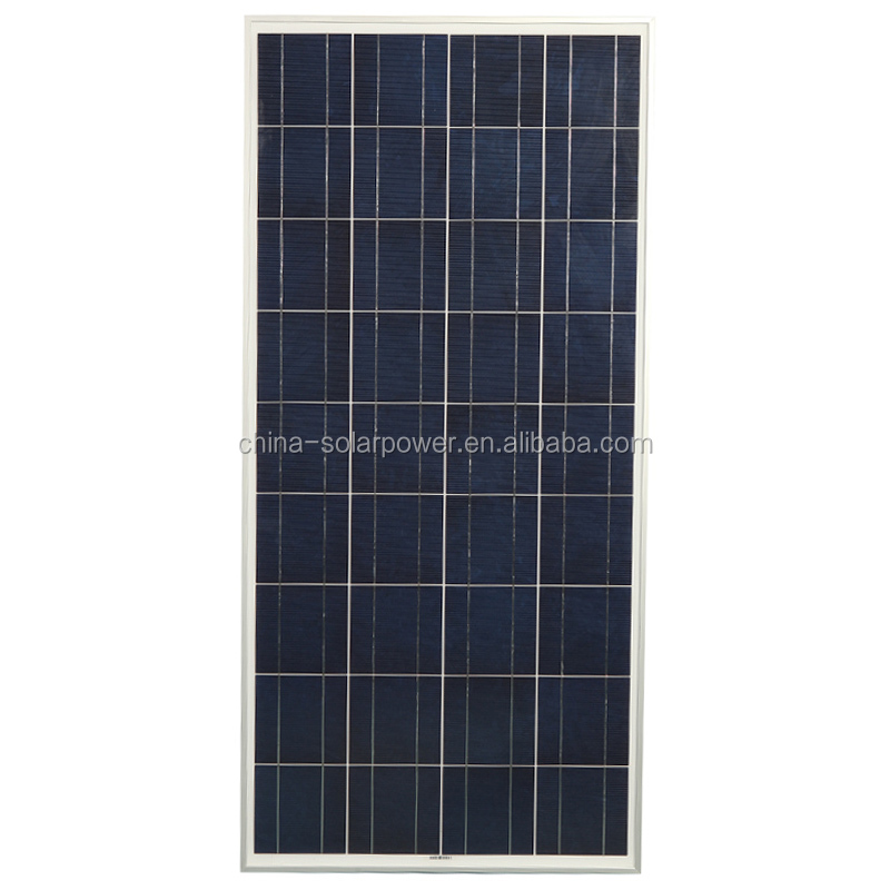 China factory sales transparent photovoltaic 150w polycrystalline solar panel