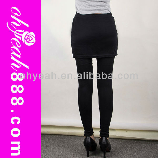 Black promotion low price women leggings tights skirt