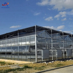 AiXiang used one stop solution large agricultural tempered glass greenhouse