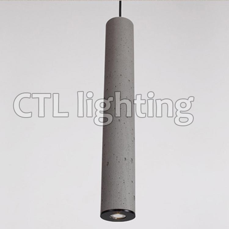Interni decorativi cemento lampada hotel ristorante singolo ciondolo appeso luci di casa moderna lampada di cemento