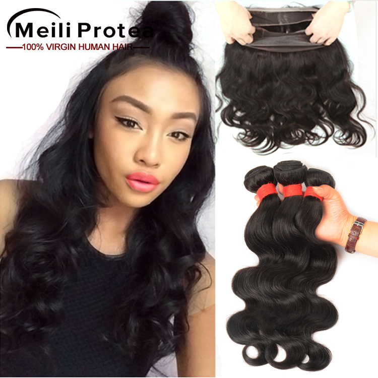 Wholesale Brazilian Virgin <strong>Human</strong> 360 Lace Frontal, 7A Grade Unprocessed Virgin Brazilian Hair Weave