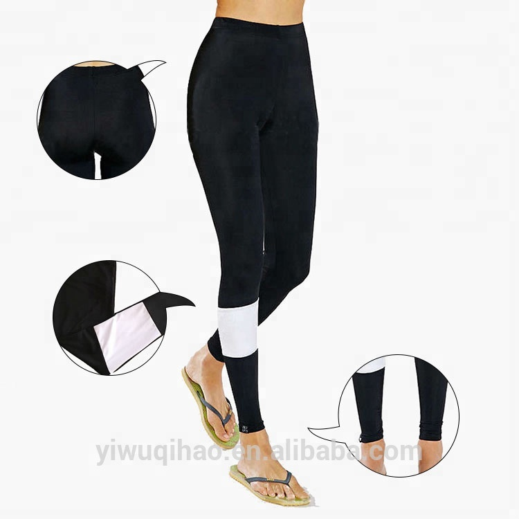 Women' Soft Warm OEM Black Sock Leggings