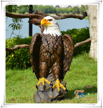 Hot Sale Fiberglass Decoration Eagle Garden Animal Statue For Sale