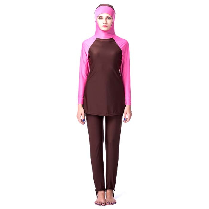 7ff6b8d155 Arab Muslim Swim suit with hijab Islamic Swimwear 3 Pieces muslim women  wears