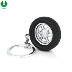 Cheap Advertising Rubber Car Tyre Keychain