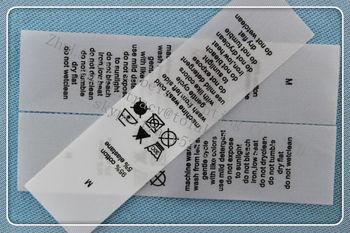 China Supplier Own Brand Custom Clothing Wash Label Washing ...