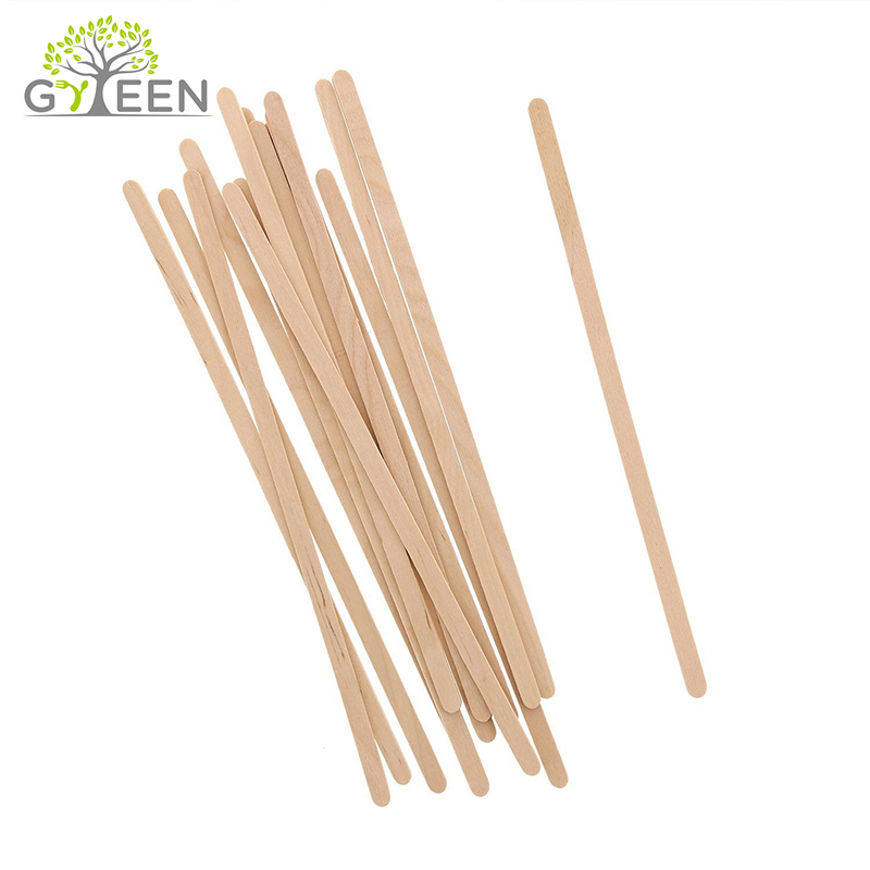 150mm Natural Biodegradable madera Stir Stick