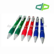 big clip twist-action plastic ball pen