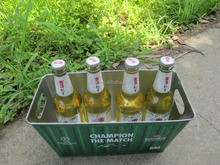 Rectangle tin beer ice bucket