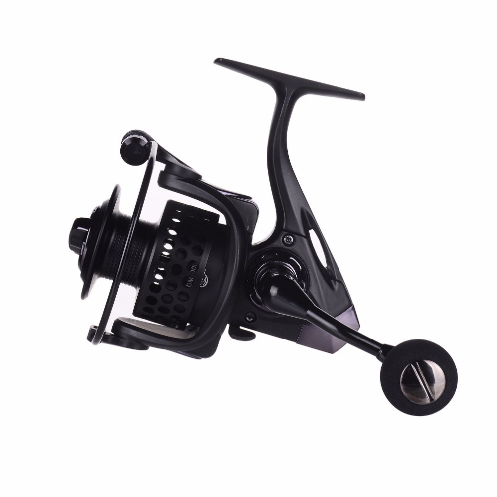 DM Series Full Metal Saltwater Spinning Reel Left Right Interchangeable CNC Handle 13+1BB Powerful Baking Finish Body, Black
