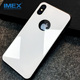 2017 Creative Shockproof TPU+PC Tempered Glass Phone Case For iPhone X