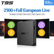 Android TV Box Quad Core TV Channels T95X TV Box S905X with IPTV USA Subscription IUDTV 1 Year