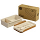 wheat straw plastic wholesale bento lunch boxes box cutlery set with spoon fork leakproof bento lunch box
