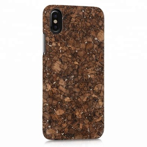 finest selection 45751 0e9b4 natural cork wood hard phone case for iphoneX