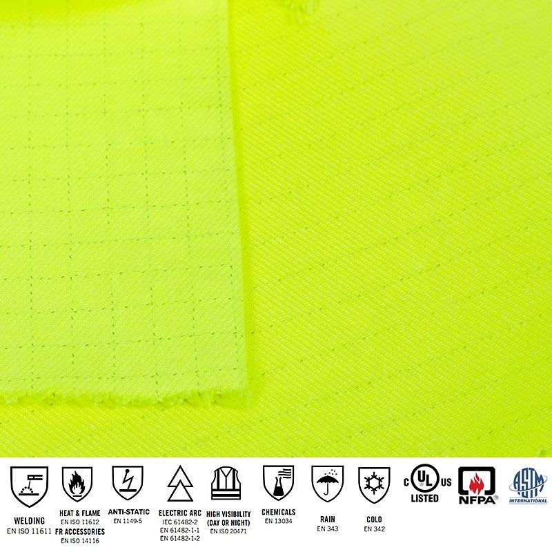 wholesale EN20471 Modacrylic cotton flame retardant anti static Fabric