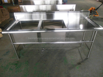 kitchen equipment stainless steel prep table with sink for table - Stainless Steel Prep Table