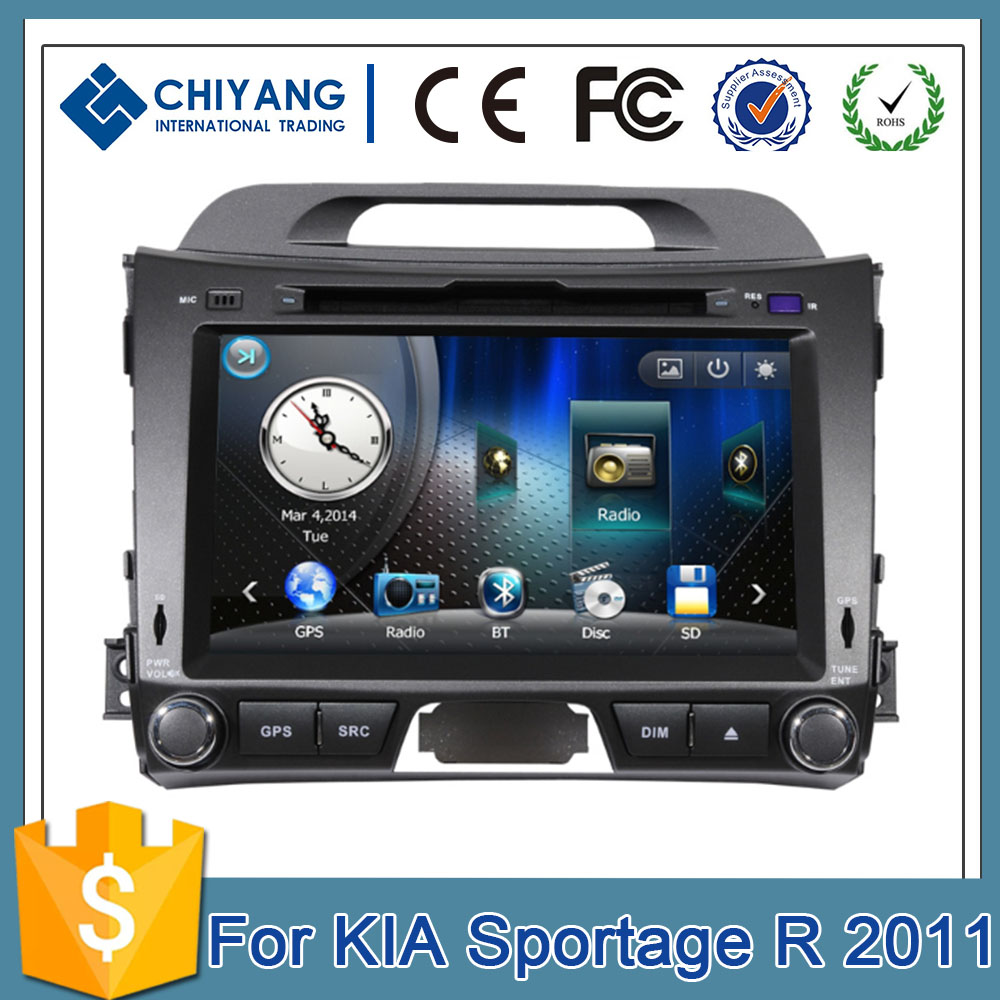 Hot sale WINCE 8 inch multimedia car KIASportage R 2011 car navigation and entertainment system