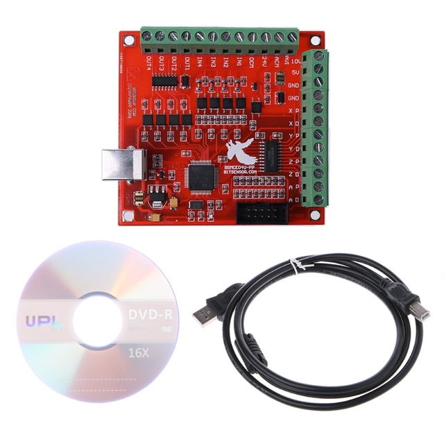 CNC USB 100Khz MACH3 Breakout Board 4 Axis Interface Driver Motion Controller