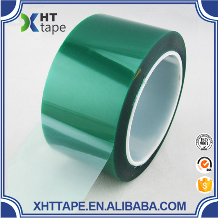 ISO9001 Shenzhen Green PET Tape With Silicone Adhesive For Leather Connection