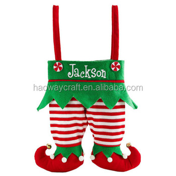 Wholesale Nonwoven Christmas Elf Pants Stocking Candy Bag - Buy ...