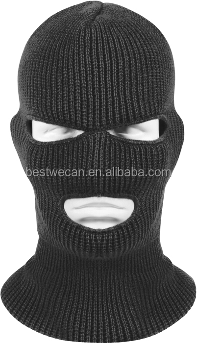 Mens Acrylic Thermal knit Balaclava knit thermal hat for cold store or winter work
