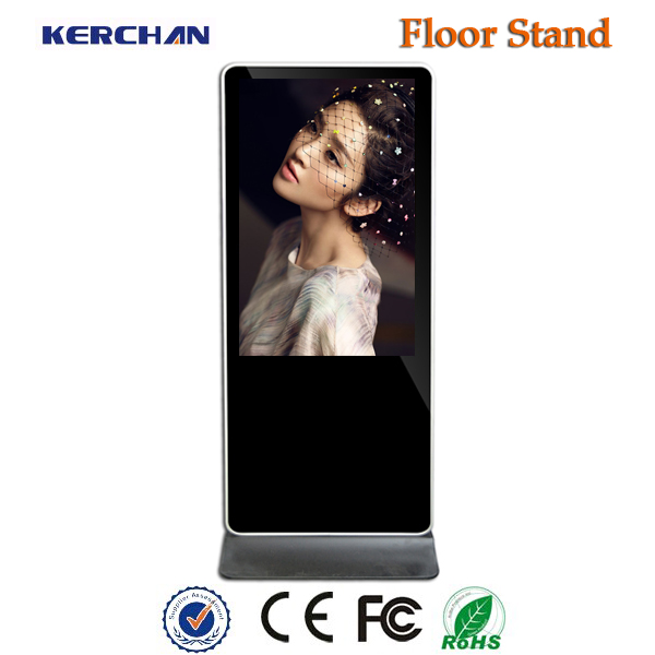 Floor stand led commercial 42 inch ipad kiosk