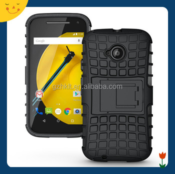 phone shell rugged kickstand case for Moto E2,case for Moto E2 mobile phone