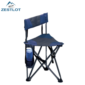 Outdoor Travel Superior Quality Folding Tripod Field Chair With Backrest