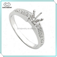 High quality 925 sterling silver ring without center stone