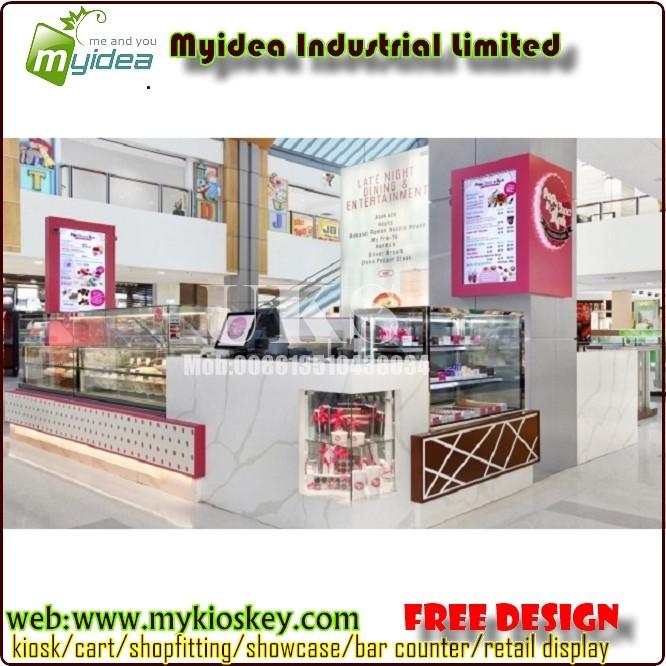 center commercial fast food kiosque stand conception et. Black Bedroom Furniture Sets. Home Design Ideas