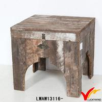 square storage rustic wooden bar stools china